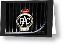 Royal Automobile Club Badge, Victoria Greeting Card