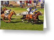 Race 6 - Del Mar Horse Race Greeting Card