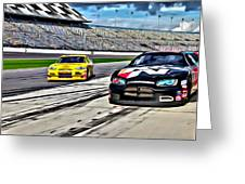 Race Car Track View Greeting Card