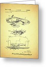 Race Car Track With Race Car Retaining Means Patent 1968 Greeting Card