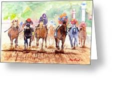 Race Day Greeting Card