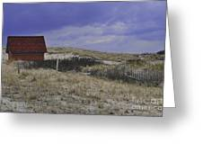 Race Point Light Shed Greeting Card