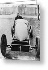 Racecar Driver, C1906 Greeting Card
