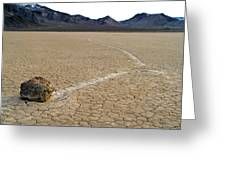 Racetrack Sailing Rocks Death Valley National Park Greeting Card