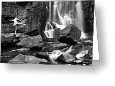 Rachel At Beartooth Falls Greeting Card