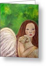 Rachelle Little Lamb The Return To Innocence Greeting Card