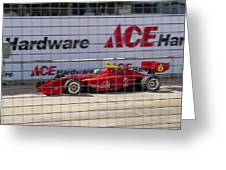 Racing At Reliant Greeting Card