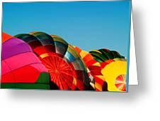 Racing Balloons Greeting Card