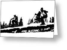 Racing Over The Ski Jump Greeting Card
