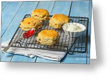 Rack Of Scones Greeting Card