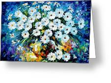 Radiance 2 - Palette Knife Oil Painting On Canvas By Leonid Afremov Greeting Card