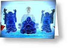 Radiant Buddhas Greeting Card