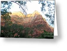 Radiant Canyon Wall Greeting Card