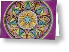Radiant Health Mandala Greeting Card