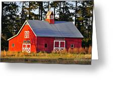 Radiant Red Barn Greeting Card