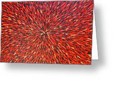 Radiation Red  Greeting Card