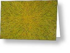 Radiation With Yellow Green And Red Greeting Card