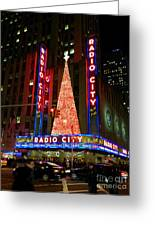 Radio City At Christmas Time - Holiday And Christmas Card Greeting Card