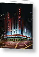 Radio City Music Hall In New York City Greeting Card