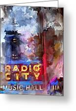 Radio City New York Greeting Card
