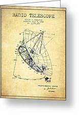 Radio Telescope Patent From 1968 - Vintage Greeting Card