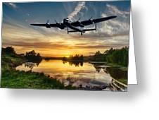 Raf Lancaster Greeting Card