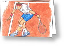 Rafa On Clay Greeting Card by Steven White