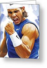 Rafael Nadal Artwork Greeting Card