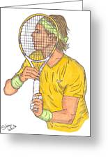 Rafael Nadal Greeting Card by Steven White