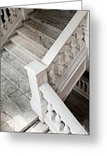 Raffle's Hotel Marble Staircase Greeting Card