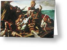 Raft Of The Medusa - Detail Greeting Card