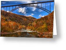 Rafting Down The New River Gorge Greeting Card