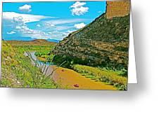 Rafting In Santa Elena Canyon In Big Bend National Park-texas Greeting Card