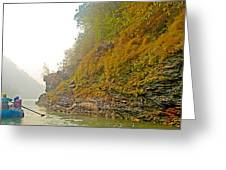 Rafting Near Shore In The Seti River-nepal   Greeting Card