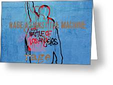 Rage Against The Machine Greeting Card