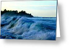 Raging Surf Greeting Card