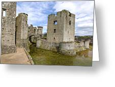 Raglan Castle - 5 Greeting Card