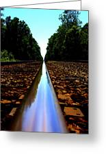 Rail Line Greeting Card