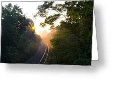 Rail Road Sunrise Greeting Card