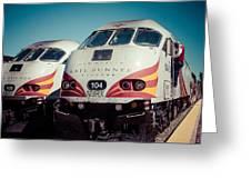 Rail Runner Twins Greeting Card