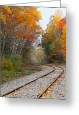 Rail Through The Colors Greeting Card