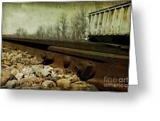 Railroad Bolts Greeting Card