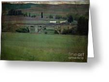 Railroad Bridge At Rosalia Texture Greeting Card