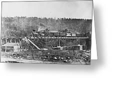Railroad Bridge, C1860 Greeting Card