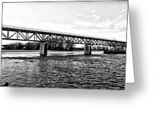 Railroad Bridge Over The Schuylkill River In Norristown Greeting Card