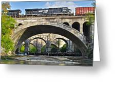 Railroad Bridges Greeting Card