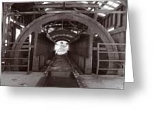 Railroad Car Inverter 1 Sepia Greeting Card