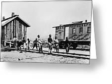 Railroad Chinese Workers Greeting Card