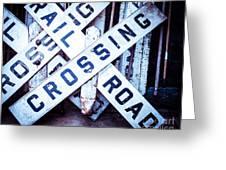 Railroad Crossings Greeting Card