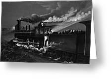 Railroad Danger Signal Greeting Card